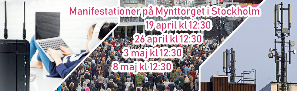 Manifestationer i Stockholm – 19 april, 26 april, 3 maj, 8 maj
