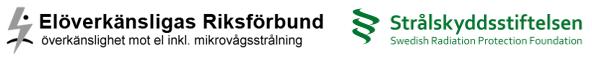 Logotyp Elöverkänsligas Riksförbundets och Strålskyddsstiftelsen